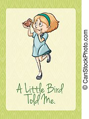 mij, weinig; niet zo(veel), vogel, vertelde