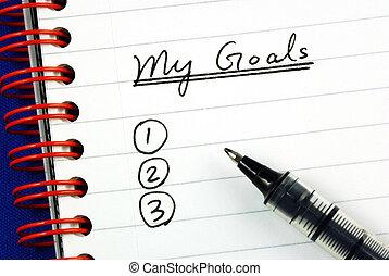 mijn, doelen, lijst