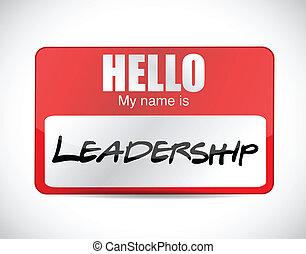 mijn, leadership., ontwerp, naam, illustratie