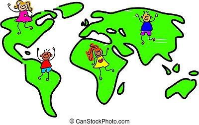 mijn, wereld