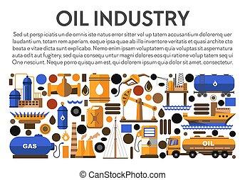 mijnbouw, fabriek, plant, olie, brandstof, gereedschap, ...