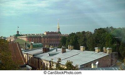 Mikhailovsky Castle on the Fontanka River, St. Petersburg....