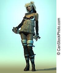 Miko - A Pinup Girl in a cute Dress