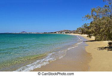 Mikri Vigla beach Naxos Greece - Mikri Vigla beach at Naxos...