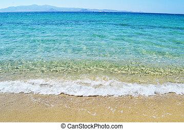 Mikri Vigla beach Naxos island Greece - Mikri Vigla beach at...