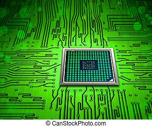 mikročip, technika
