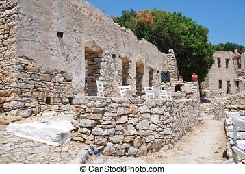 Mikro Chorio ruins, Tilos island
