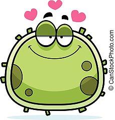 mikrob, kärlek, bakterie