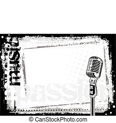mikrofon, bakgrund, 2