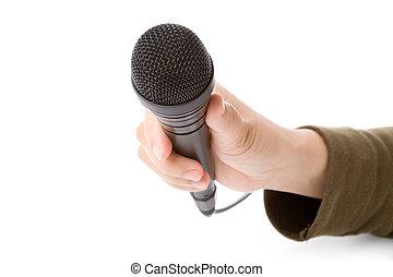 mikrofon, czarnoskóry
