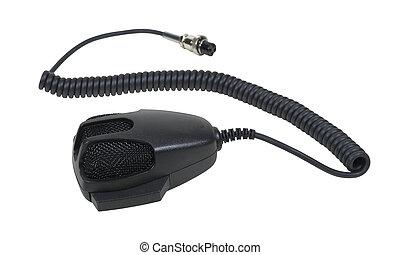 mikrofon, lina, ręka