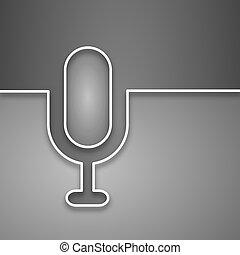 mikrofon, nowoczesny, tło