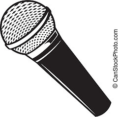 mikrofon, vektor, klassisk