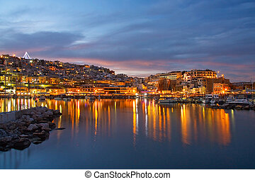 Mikrolimano, Athens. - Evening scenery in the Mikrolimano ...