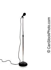 mikrophon, auf, a, stehen