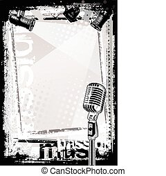 mikrophon, hintergrund