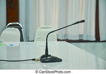 mikrophon, in, a, geschäftlicher zimmer