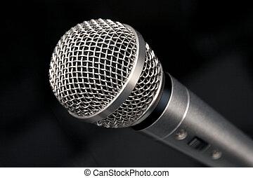 mikrophon, makro