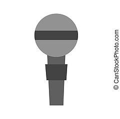 mikrophon, vorrichtung, freigestellt, ikone