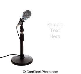 mikrophon, weiß, mit, kopieren platz