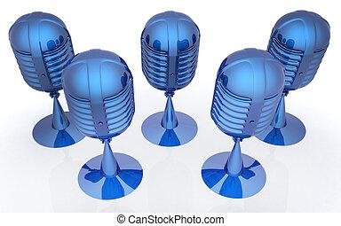 mikrophone, übertragung, 3d