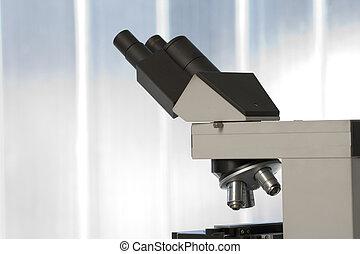 mikroskop, in, laboratorium