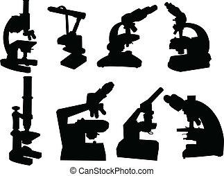 mikroskop, kollektion