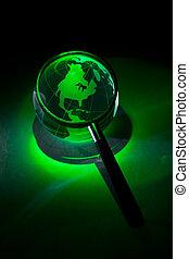 mikroskop koule, zvetšovací sklo