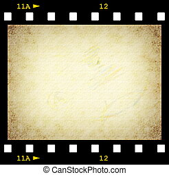 milímetros, 35, película, plano de fondo, tira