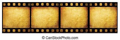 milímetros, película, viejo, 35, película