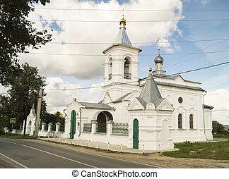 milagro, rusia, iglesia, mstyora, ciudad, trabajador, ...