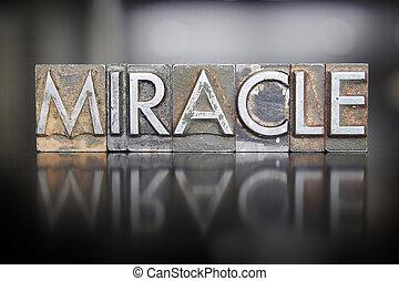 milagro, texto impreso