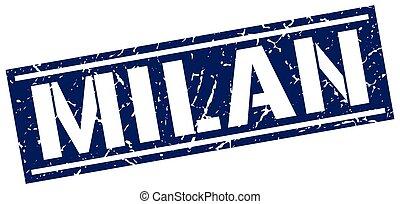 Milan blue square stamp