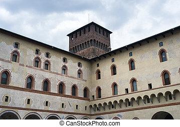 Milan: Castello Sforzesco, court