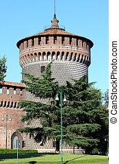 Milan castle bastion