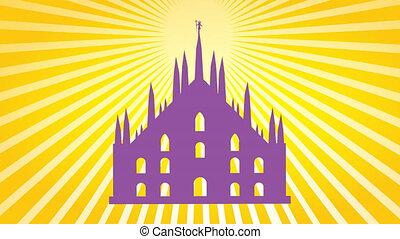 milan cathedral design illustration