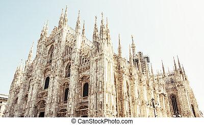 Milan cathedral (Duomo di Milano), Italy, cultural heritage