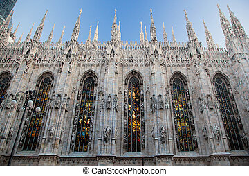 Milan Cathedral, Duomo. Italy - Milan Cathedral at Piazza...