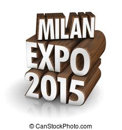 Milan Expo 2015 wood - illustration, Milan Expo 2015 in wood...