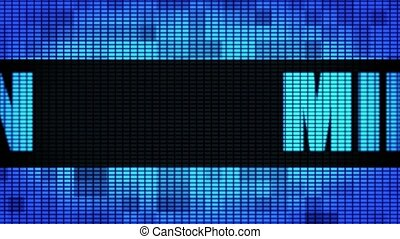 MILAN Front Text Scrolling LED Wall Pannel Display Sign...