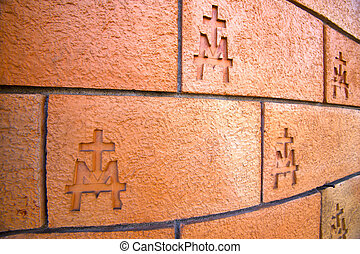 milan italy old church abstract background stone