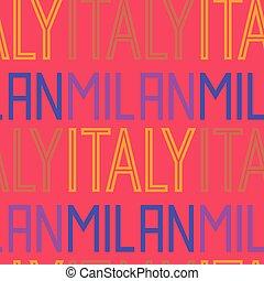 Milan, Italy seamless pattern