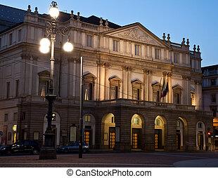 La Scala (Italian: Teatro alla Scala), is a world renowned opera house in Milan, Italy