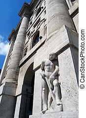 Milan - The Borsa Italiana in Busin