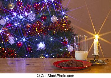 milch plätzchen, für, santa