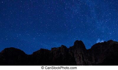 milchstraße, galaxie, aus, grand canyon