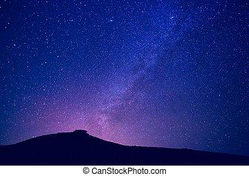 milchstraße, sternen, nacht