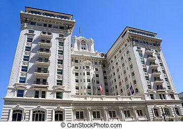 milepæl, historiske, hotel, utah