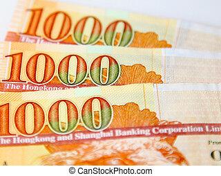 miles, hong, dólar, kong