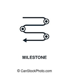 Milestone icon. Creative element design from business strategy icons collection. Pixel perfect Milestone icon for web design, apps, software, print usage